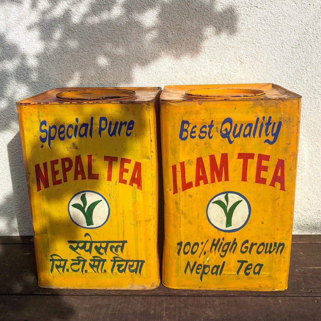 ネパールの紅茶缶♡